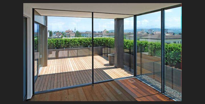 Przesuwne ściany szklane typu Panorama