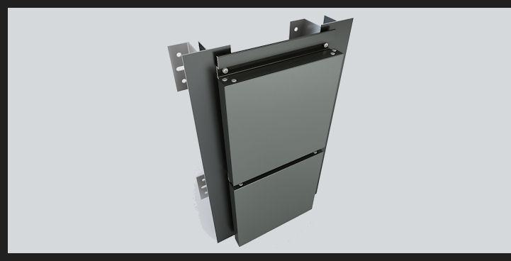 Aluminium panel facades